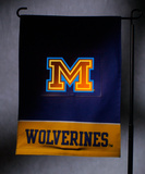 NCAA Michigan Wolverines Light Show Garden Flag Flag