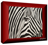 zebras abstract Gallery-Wrapped Canvas Stretched Canvas Print