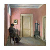 Woman Sitting in an Interior, 1915 Giclee Print by Peter Vilhelm Ilsted