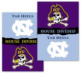 NCAA E. Carolina - N. Carolina 2-Sided House Divided Rivalry Banner Flag