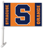 NCAA Syracuse Orange Car Flag with Wall Bracket Flag