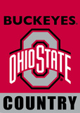 NCAA Ohio State Buckeyes 2-Sided Country Garden Flag Flag