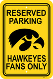 NCAA Iowa Hawkeyes Parking Sign Wall Sign