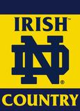 NCAA Notre Dame Fighting Irish 2-Sided Country Garden Flag Bandera