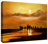 siesta key painting Gallery-Wrapped Canvas Stretched Canvas Print