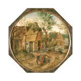 Passage Through the Village, C1584-1637 Giclee Print by Pieter Brueghel the Younger