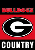 NCAA Georgia Bulldogs 2-Sided Country Garden Flag Flag
