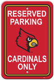 NCAA Louisville Cardinals Parking Sign Wall Sign