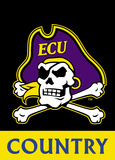 NCAA East Carolina Pirates 2-Sided Country Garden Flag Flag