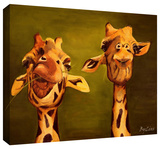 giraffe buddies Gallery-Wrapped Canvas Stretched Canvas Print