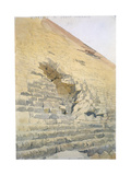 Entrance to the Great Pyramid, Egypt, 19th Century Giclee Print by Richard Phene Spiers