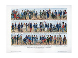 Types of Soldiers from the End of the 19th Century, 1900 Giclee Print by Richard Knotel