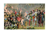 Scene from Shakespeare's the Tempest, 1856-1858 Giclee Print by Robert Dudley