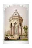 The Drinking Fountain in Victoria Park, Hackney, London, C1861 Giclee Print by Robert Dudley