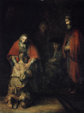 The Return of the Prodigal Son, C1668 Giclée-tryk af  Rembrandt van Rijn