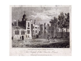 The Chapel at Charterhouse with Figures, Finsbury, London, 1817 Giclee Print by Thomas Higham