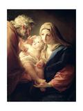 The Holy Family, 1740S Giclée-tryk af Pompeo Batoni