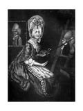 The Paintress of Macaroni'S, 1770 Giclee Print by Richard Dighton