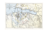 Map Showing the Siege of Sevastopol, Crimean War, 1854-1855 Giclee Print by Robert Walker