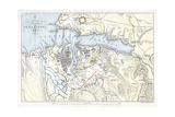 Map Showing the Siege of Sevastopol, Crimean War, 1854-1855 Giclee Print by Robert Walker