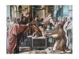 The Conversion of the Proconsul, 1515-1516 Reproduction procédé giclée par  Raphael
