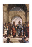 The School of Athens, Detail of Plato and Aristotle, 1508-1511 Reproduction procédé giclée par  Raphael