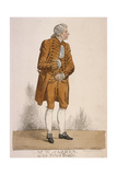 The Actor William Farren as Sir Peter Teazle, 1824 Giclee Print by Richard Dighton