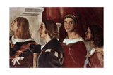 The Mass at Bolsena, (Detail), 1512 Giclee Print by  Raphael