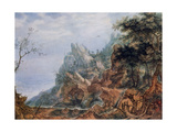 St Jerome in a Rocky Landscape, C1596-1639 Giclee Print by Roelandt Savery