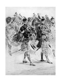 To the Wail of the Pipes, the Highland Soldiers' Lament, 1910 Giclee Print by Richard Caton Woodville II