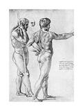 Two Male Nude Studies, 1515 Reproduction procédé giclée par  Raphael