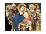 The Madonna and Child with Saints, Mid 15th Century Giclee Print by  Sano di Pietro
