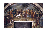 The Parnassus, from the Stanza Delle Segnatura, 1510-1511 Reproduction procédé giclée par  Raphael