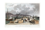 Plymouth Breakwater from the West, 1829 Giclee Print by Thomas Allom