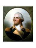 George Washington (1732-9), First President of United States (1789-9) Giclee Print by Rembrandt Peale