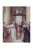 Study for the Opening of the Royal Exchange by Queen Victoria, London, C1891 Giclee Print by Robert Walker Macbeth
