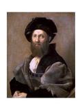 Portrait of Baldassare Castiglione, 1514-1515 Reproduction procédé giclée par  Raphael