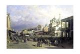 Market in Nizhny Novgorod, 1872 Giclee Print by Pyotr Petrovich Vereshchagin