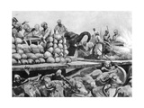 The Nawab Siraj Ud Daulah's Artillery on its Movable Platform, India, 1757 Giclee Print by Richard Caton Woodville II