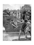 The Ordeal of Cold Water Giclee Print by Richard Caton Woodville II