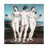 The Three Graces, 1504-1505 Reproduction procédé giclée par  Raphael