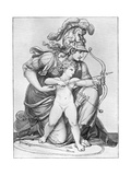 Minerva Directing the Arrow of Cupid, Late 18th-Early 19th Century Giclee Print by Richard Cosway