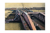 Bridge over the River Hooghly, Calcutta, India, C1880-1890 Giclee Print by Samuel Bourne