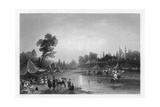 The Barrada River, (The Ancient Pharpa), Damascus, Syria, 1841 Giclee Print by Robert Sands