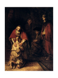 The Return of the Prodigal Son, C1668 Giclee Print by  Rembrandt van Rijn