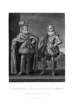 Christian Iv, King of Denmark, with His Eldest Son Frederick Giclee Print by Robert Dunkarton