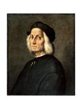 Portrait of an Old Man, 16th Century Giclée-tryk af Ridolfo Ghirlandaio