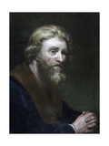 Portrait of a Bearded Man, 19th Century Giclee Print by Richard James Lane