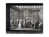 Royal Academy of Arts Exhibition in a House on Pall Mall, Westminster, London, 1771 Giclee Print by Richard Earlom