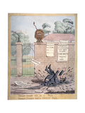 Humpty Dumpty Sat on a Wall..., 1821 Giclee Print by Richard Dighton
